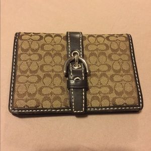 Coach Dark Brown Card Wallet